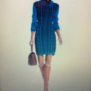 Tommy Hilfiger Cable-Knit Cowl-Neck Sweater Dress